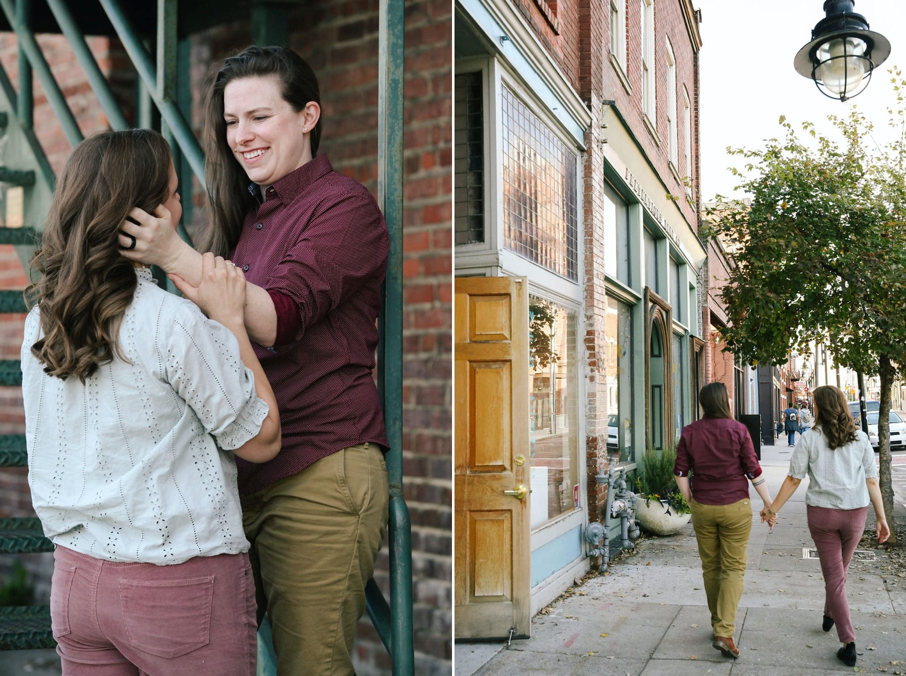 Old City Knoxville engagement photos