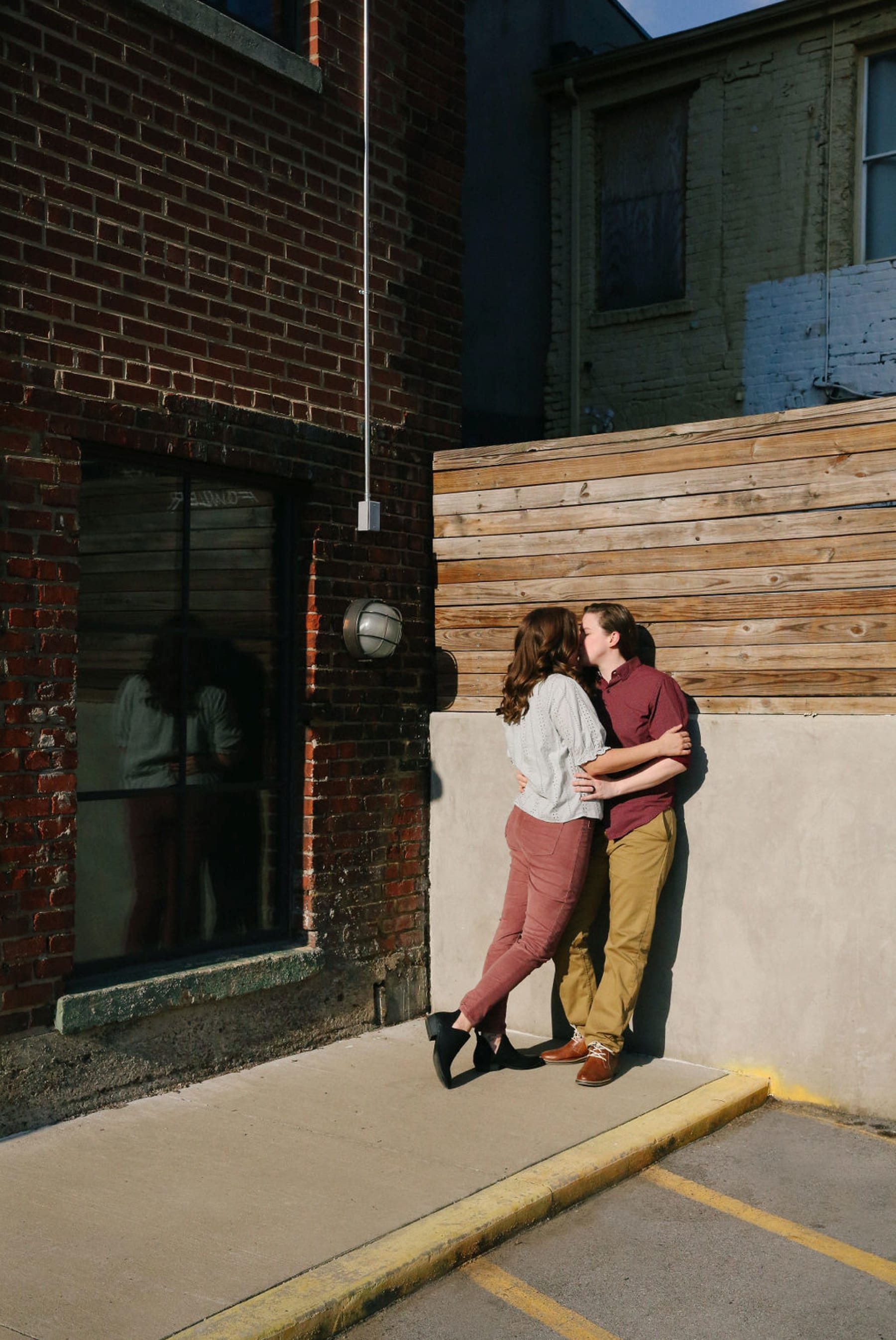 Old City engagement session in Knoxville, TN