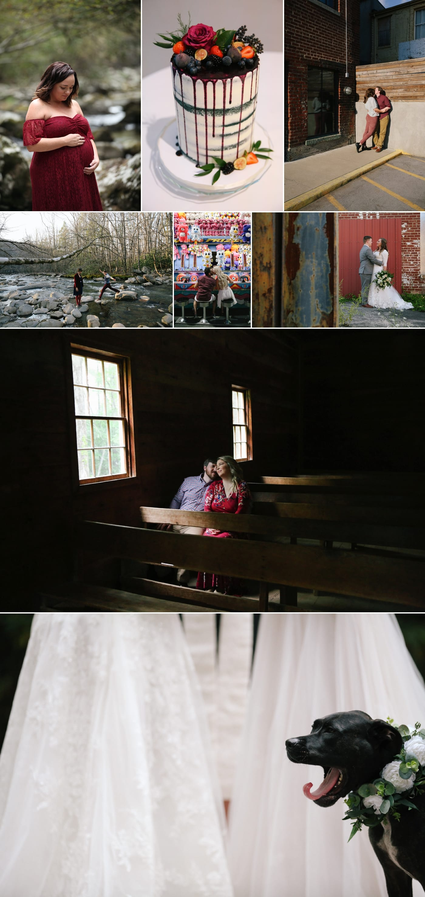 Engagement session in Cades Cove