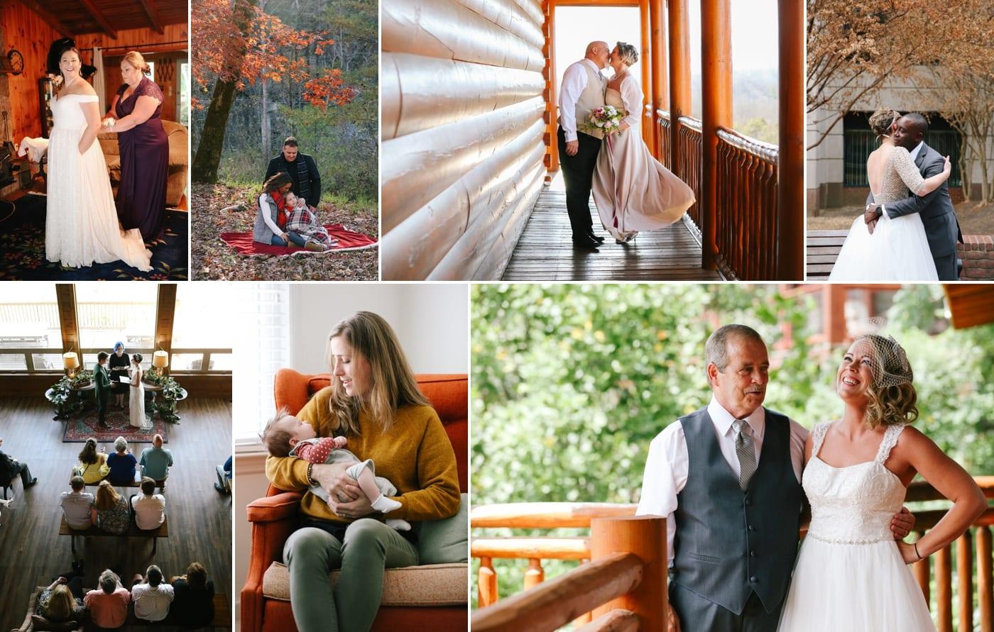 Smoky Mountain cabin wedding