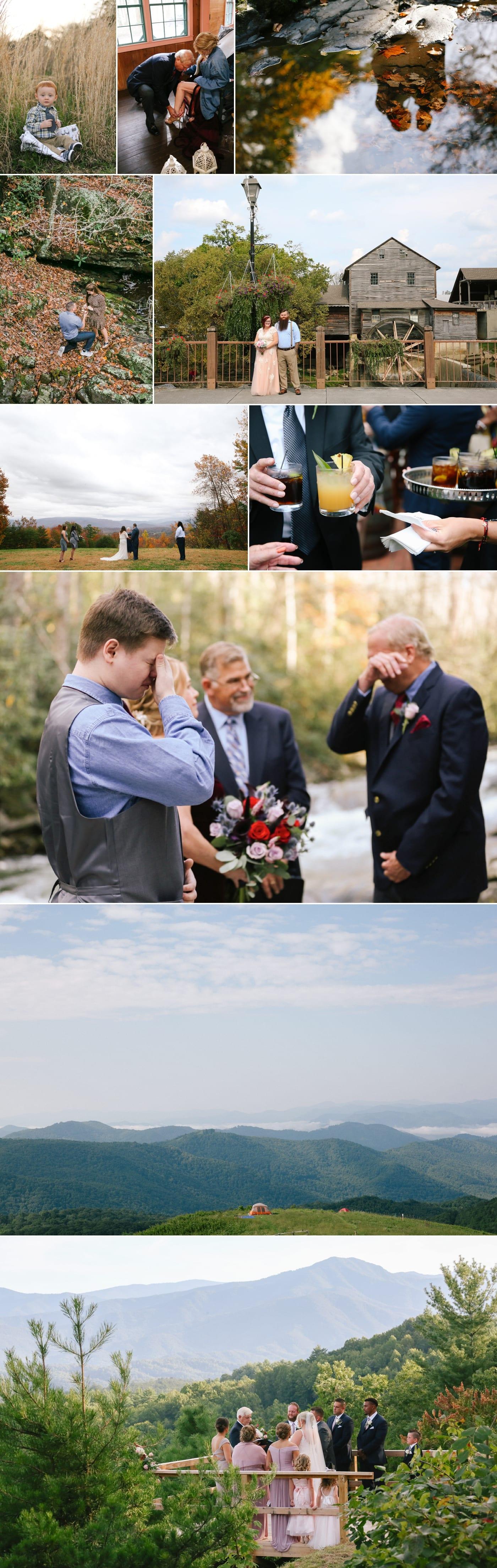 Elkmont Spence Cabin wedding