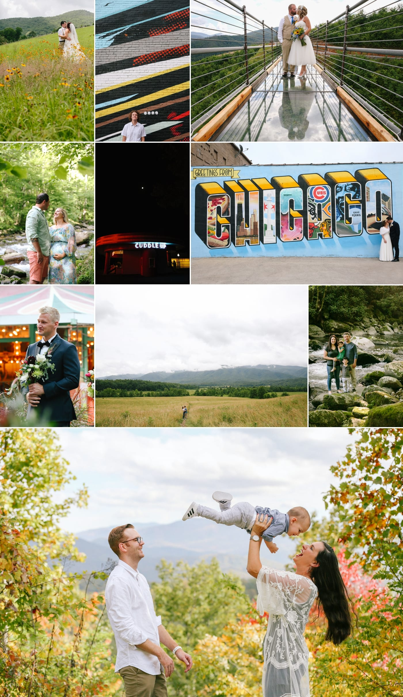Family session in the Smoky Mountains