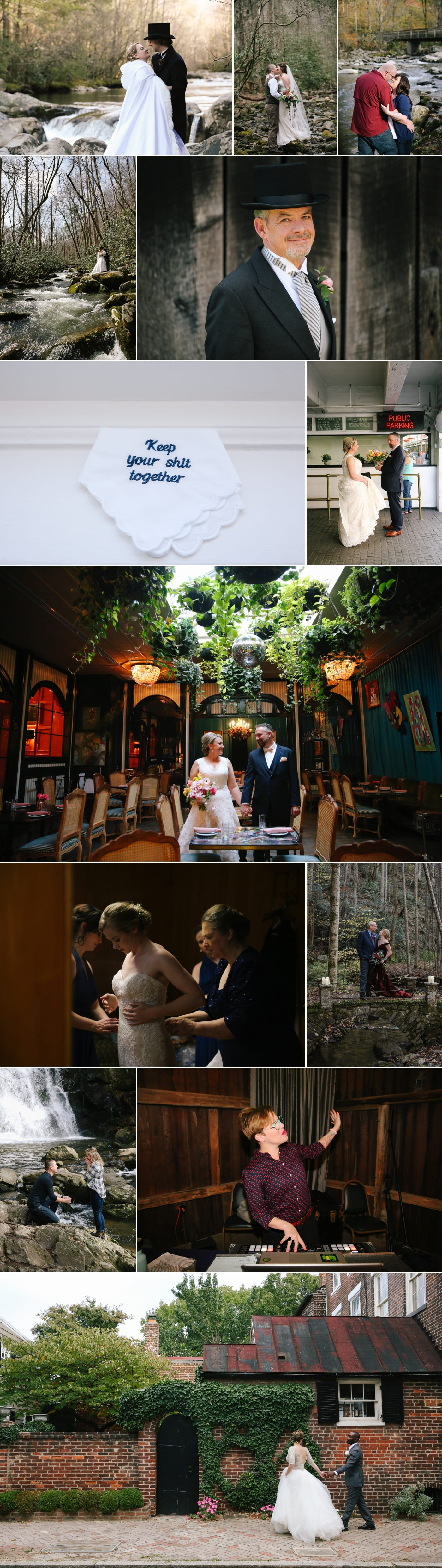 Bride and Groom at Jack Rose in New Orleans